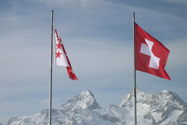 Švajčiarska vlajka.