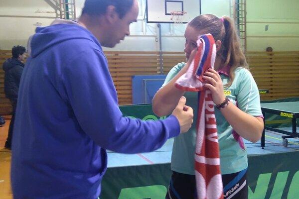 Zľava: tréner Štefan Peko ml. a Tatiana Kukuľková