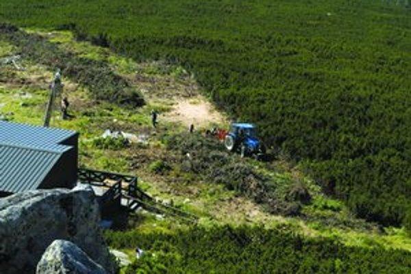 Výrub lesa poznačil aj okolie Štrbského Plesa.