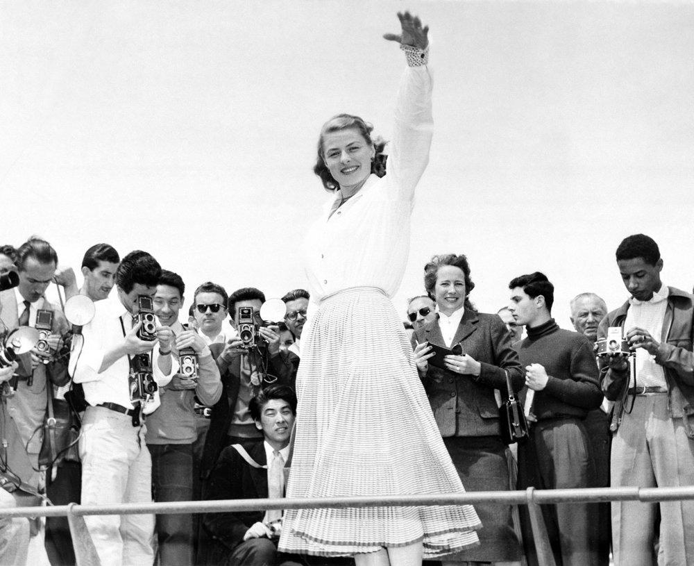 Ingrid Bergmanová v Cannes v roku 1956.