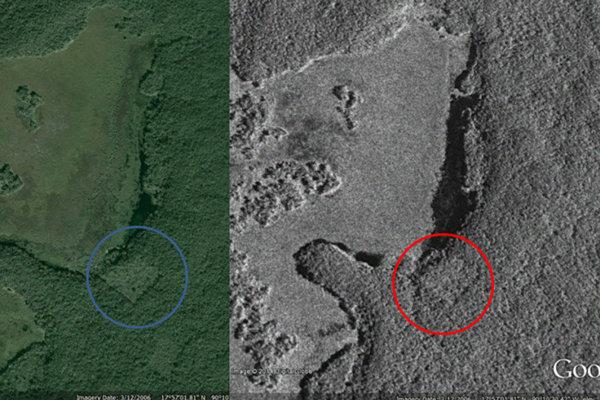 Gadoury aj astronómovia z kanadskej vesmírnej agentúry si mysleli, že objavili mayskú pyramídu. V skutočnosti je to pole.