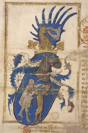 Erb dostal v roku 1434 Dionýz Kistarkányi od Žigmunda Luxemburského. Či sú na ňom vlci alebo psi, nevieme. No vieme, že Starkovcov strážili zlovlci.
