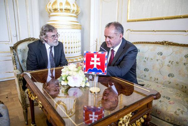 Ján Benčík sa s prezidentom Andrejom Kiskom zhováral o extrémizme na internete.