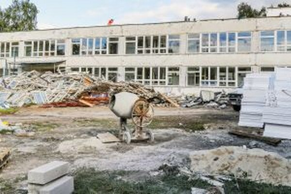 Rekonštrukcia školy.