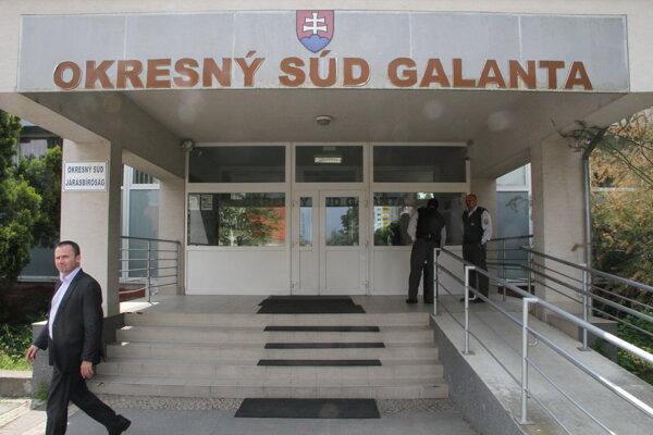 Primátor Galanty po skončení pojednávania.