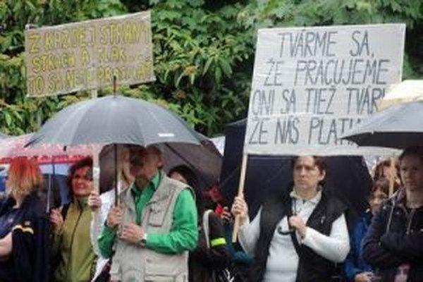 Protest v Banskej Bystrici.