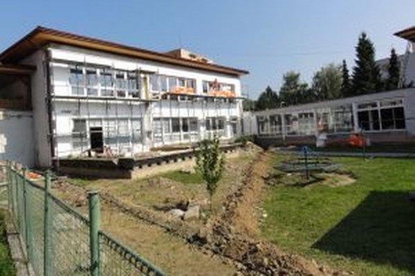 Materská škola bude po obnove pripravená na väčší počet detí.