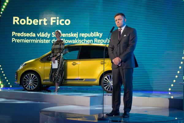 Premiér Robert Fico (Smer) počas podujatia pri príležitosti 25. výročia vzniku spoločnosti Volkswagen Slovakia.