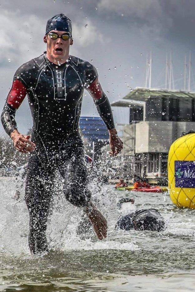 Z vody Richard Varga už ako tradične vybiehal prvý.