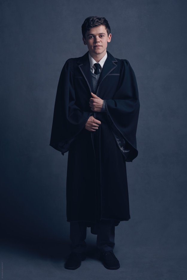 Sam Clemmett ako syn Harryho Pottera Albus Severus.