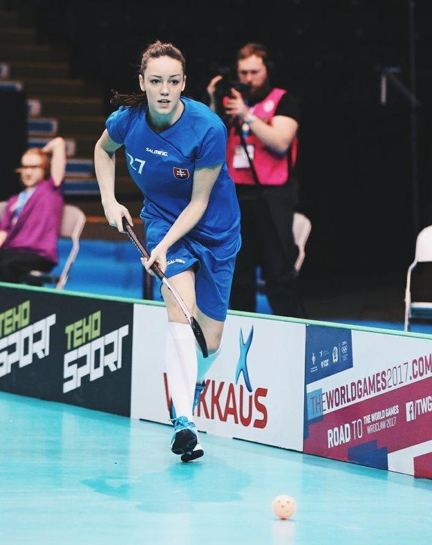 Andrea Šidlová v reprezentačnom drese.