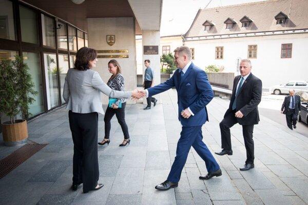 Lucia Žitňanská sa stretla s premiérom Robertom Ficom.