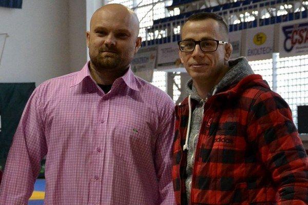 Marek Pentka (vpravo) s úspešným trénerom klubu, ktorého je odchovancom - Michalom Bokorom.