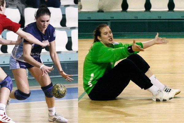 Karin Bujnochová (vľavo) a Adriana Medveďová v minulosti obliekali dres UDHK Nitra vo WHIL, resp. v dorasteneckých súťažiach.