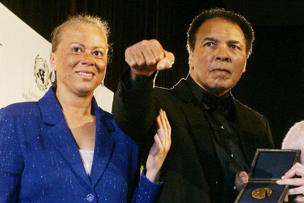 Muhammad Ali a jeho posledná manželka Lonnie Ali.