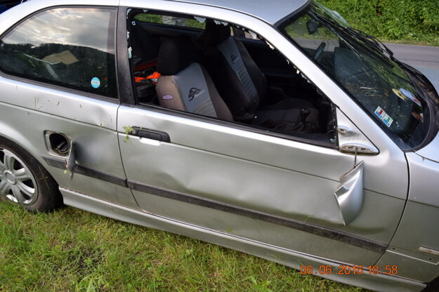 Dopravná nehoda v Utekáči.