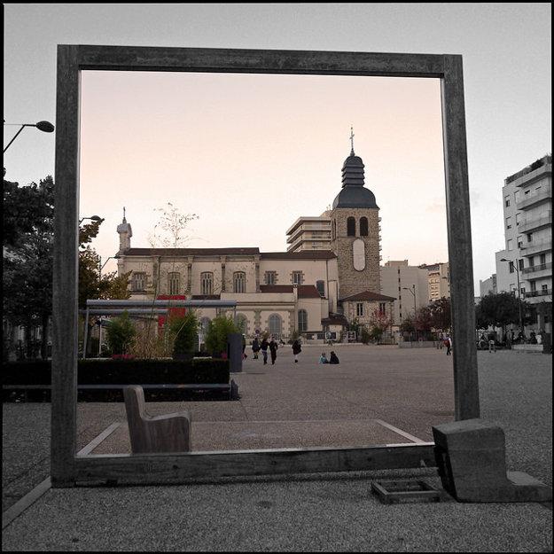 Námestie Chavanell v Saint Étienne..
