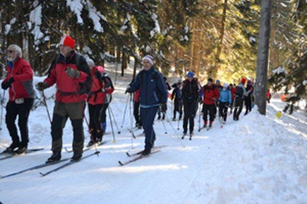 Štvrtý ročník prechodu Javorníckou lyžiarskou bežeckou magistrálou.