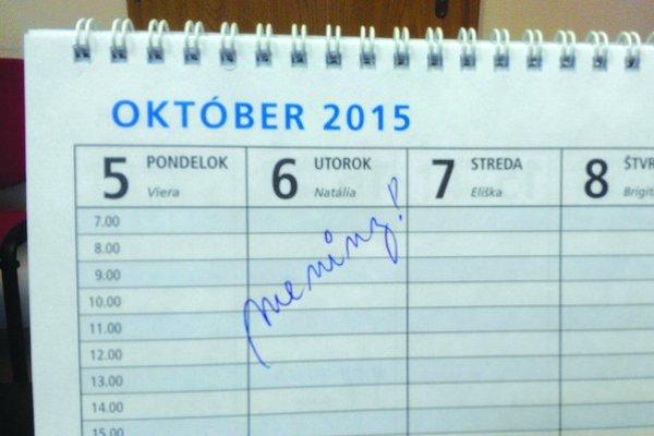 Najobľúbenejšie dievčenské meno za rok 2014 v okrese. Natália má meniny 6. októbra.