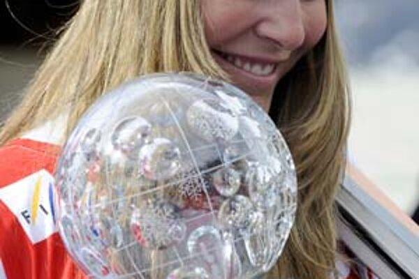 Američanka Lindsey Vonnová , celková víťazka ženského zjazdu.