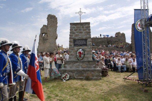 Sviatočné chvíle na hrade Branč na sviatok Cyrila a Metoda roku 2014.