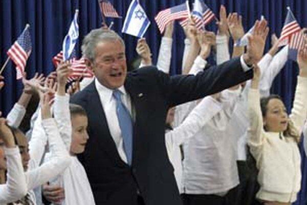 Izrael je príjemnejšou časťou misie Georgea Busha na Blízkom východe.