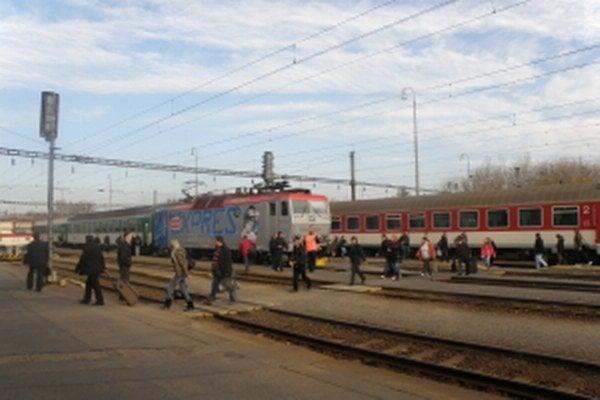 Železničná stanica v Kútoch.