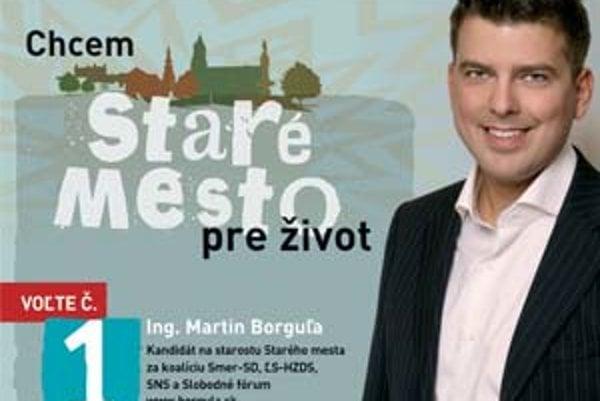 Martin Borguľa kandidoval za starostu aj za poslanca bratislavského Starého Mesta.