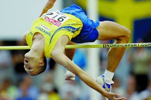 Olympijský víťaz z Atén 2004 v skoku do výšky Stefan Holm zo Švédska.