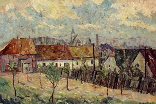 Diela známeho krajinára môžu vidieť návštevníci galérie v Senici.