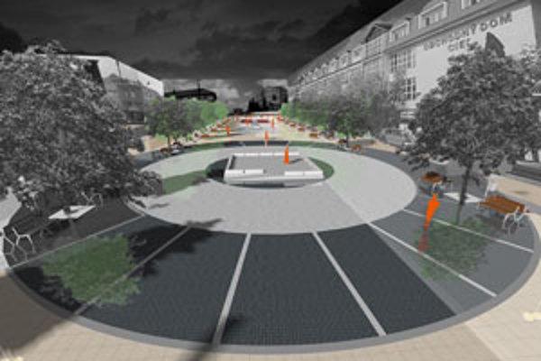 Takto by malo námestie v Senici vyzerať v roku 2011.