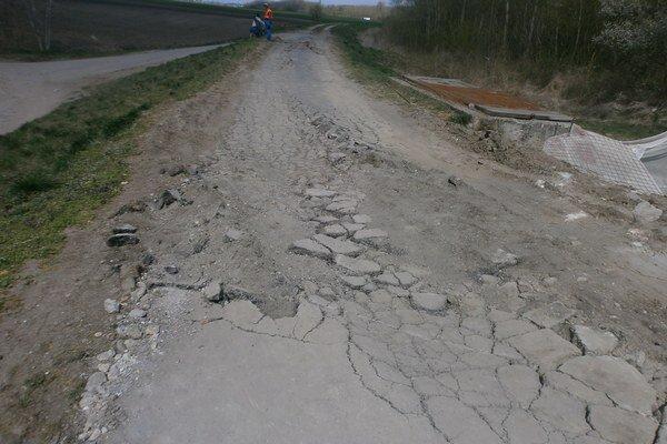 Takto vyzerá cyklistický chodník dnes.
