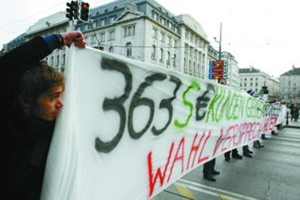 Študenti vo Viedni už viackrát protestovali proti plateniu školného.