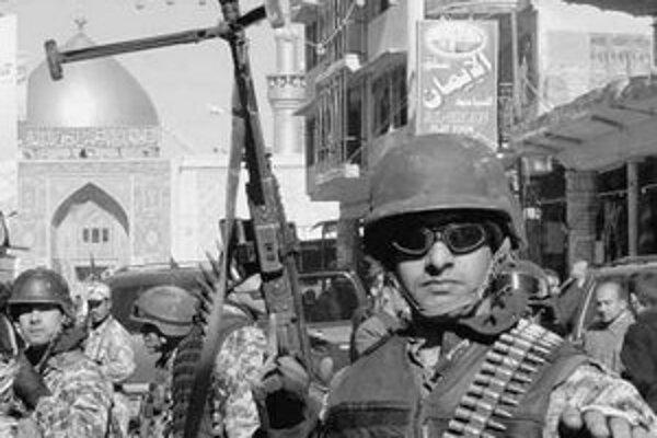 Americký vojak v Nadžafe.