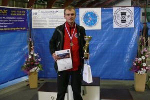 Pavol Kopp získal na domácom šampionáte striebornú medailu.
