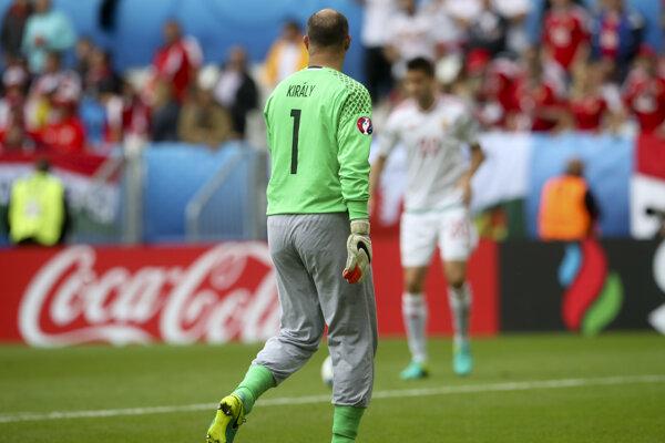 Gábor Király nastúpil na zápas majstrovstiev Európy ako štyridsaťročný.