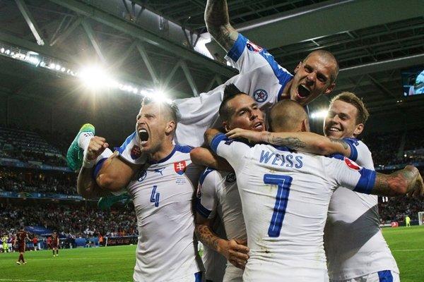 Slovenská gólová radosť.