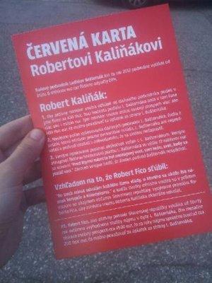 Opozícia ukáže Kaliňákovi červenú kartu.