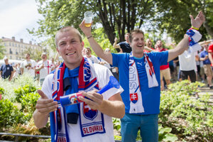V St.Étienne šírili Slováci okolo seba dobrú náladu.