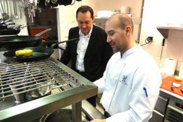 Šéfkuchár Richard Tarrot sa inšpiroval lokálnymi surovinami.
