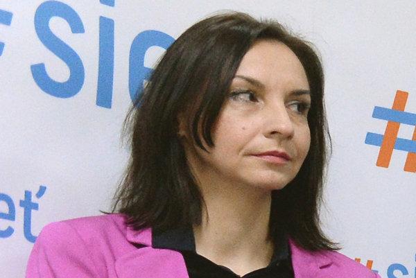 Poslankyňa NR SR Alena Bašistová.
