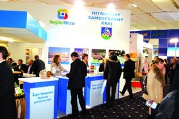 Expozícia na veľtrhu ITF Slovakiatour v Bratislave.
