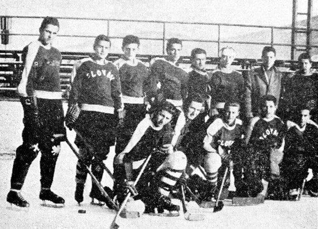 Družstvo Slovana Nitra z roku 1962.