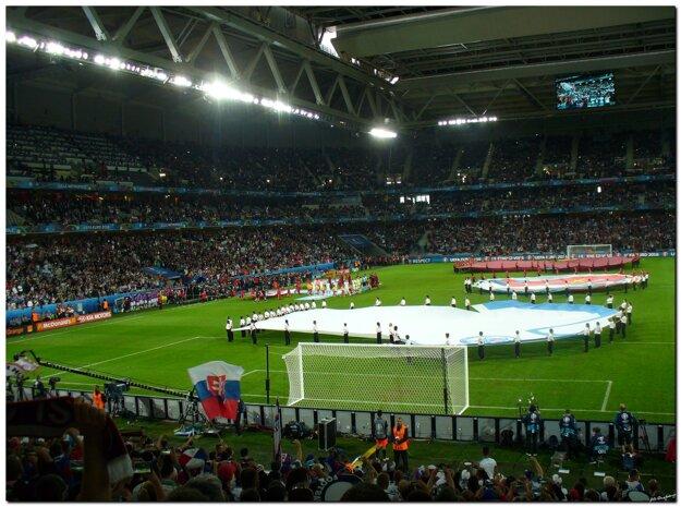 Nástup Slovenska a Ruska na zápas