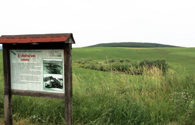 Na tomto mieste v Lehote bol kedysi jediný povrchový lom na Slovensku.