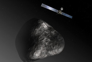 Sonda Rosetta a kométa 67P/Čurjumov-Gerasimenko.