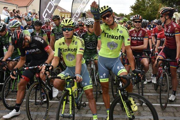 Roman Kreuziger (vpravo) sa získal aj český titul.