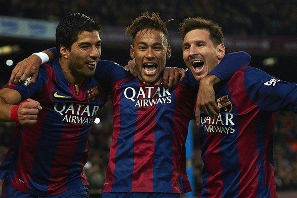Neymar v drese Barcelony - archívna fotografia.
