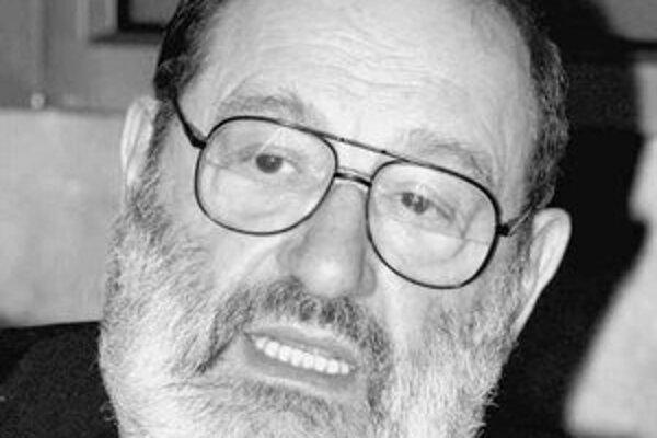 Umberto Eco ( 1932) je taliansky estetik, teoretik umenia a spisovateľ. Napísal romány Meno ruže, Foucaultovo kyvadlo, Ostrov včerajšieho dňa, Baudolino a Tajomný plameň kráľovnej Loany a mnoho odborných prác.