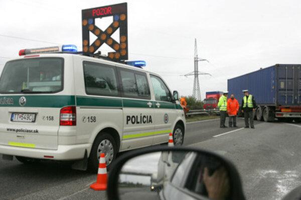 Častým účastníkom nehôd boli v poslednej dobe kamióny.
